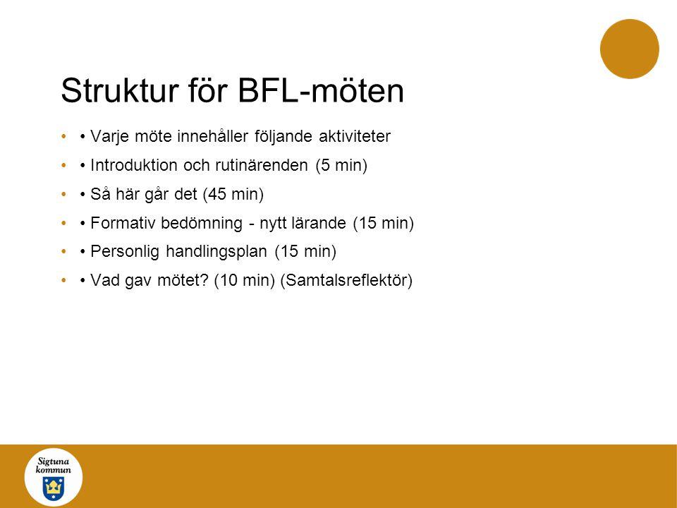 Struktur för BFL-möten