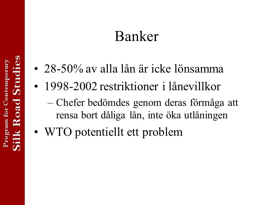 Banker 28-50% av alla lån är icke lönsamma