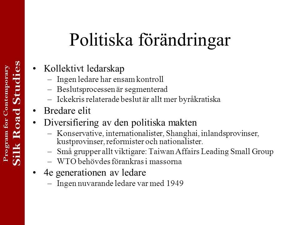 Politiska förändringar