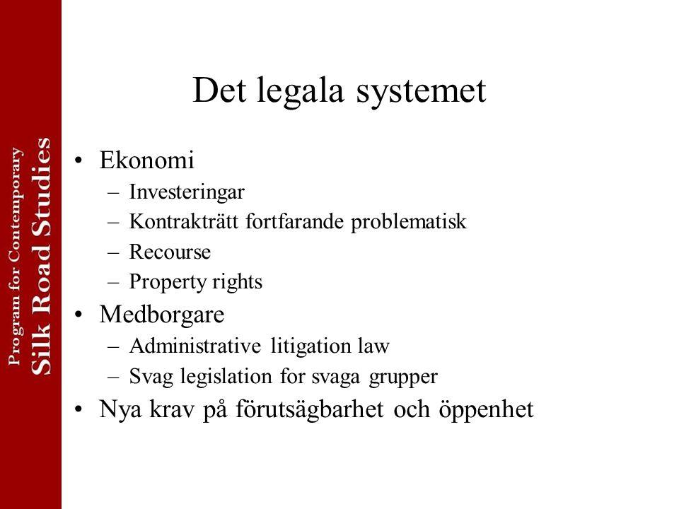 Det legala systemet Ekonomi Medborgare