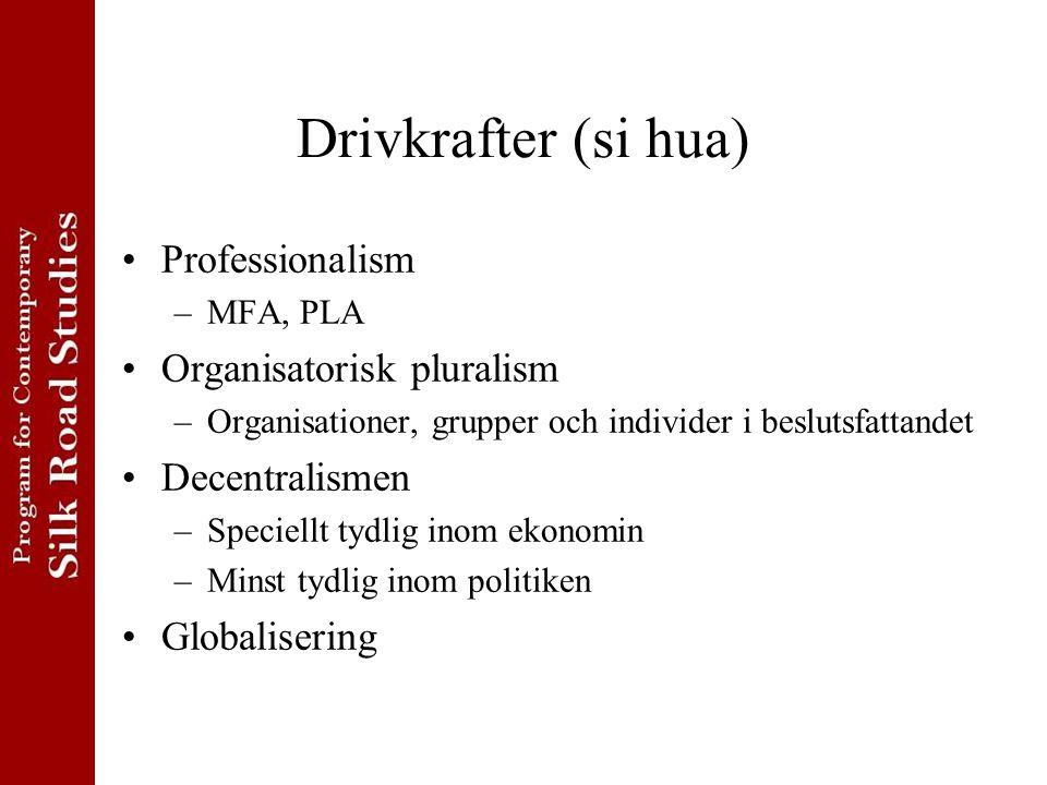 Drivkrafter (si hua) Professionalism Organisatorisk pluralism