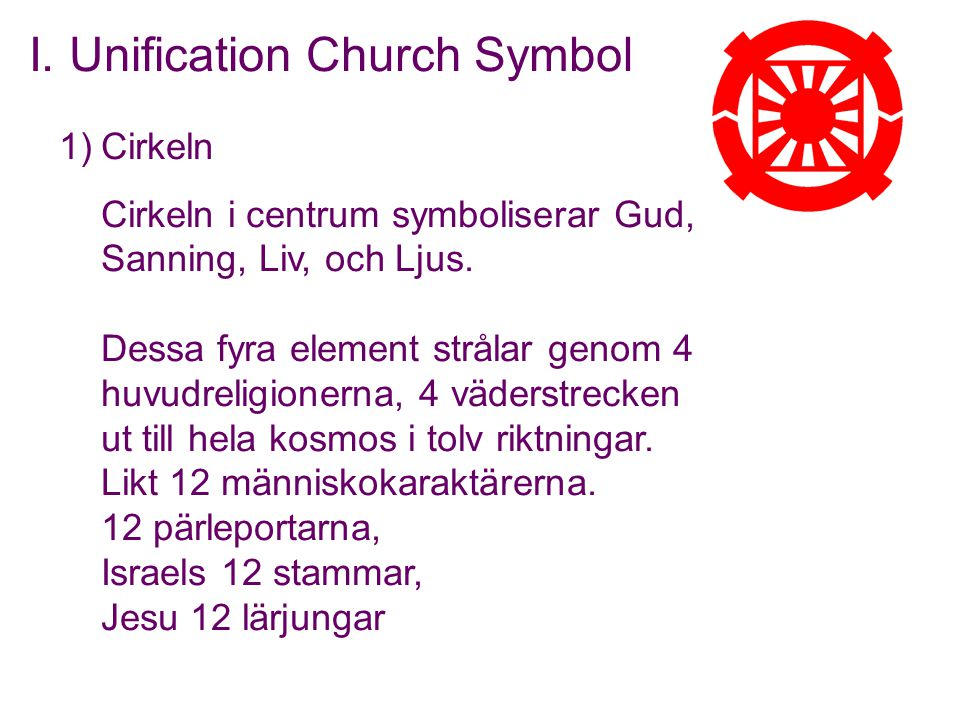 I. Unification Church Symbol