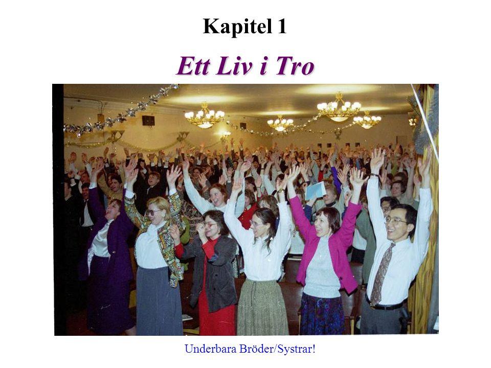 Kapitel 1 Ett Liv i Tro Underbara Bröder/Systrar!
