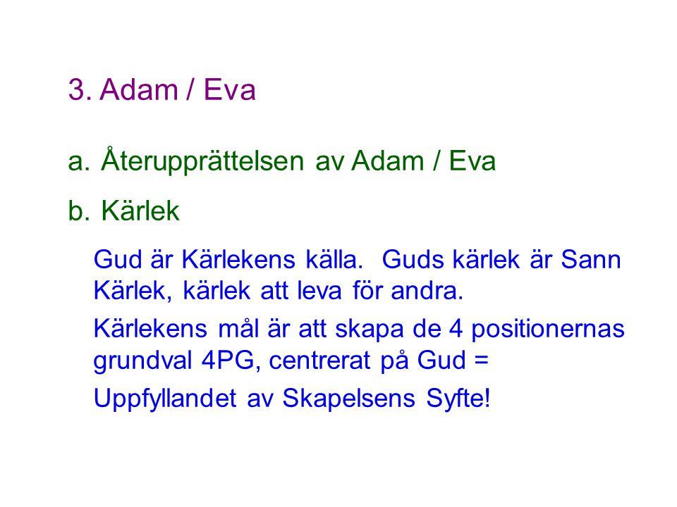 3. Adam / Eva Återupprättelsen av Adam / Eva Kärlek