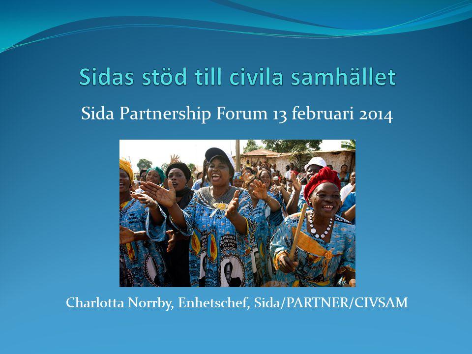 Sidas stöd till civila samhället