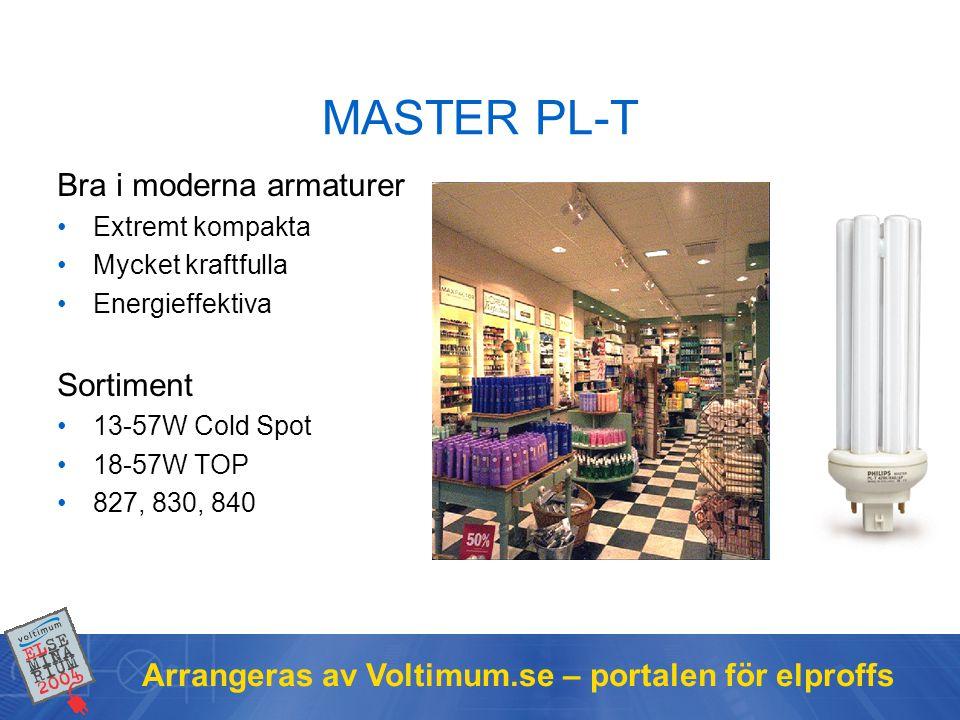 MASTER PL-T Bra i moderna armaturer Sortiment