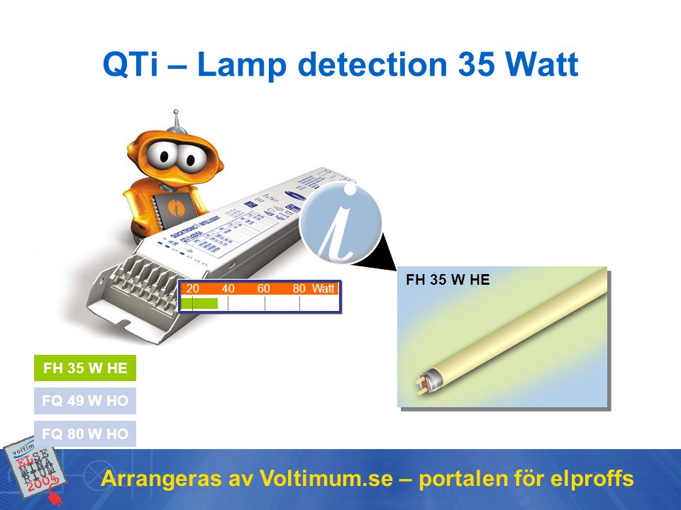 QTi – Lamp detection 35 Watt