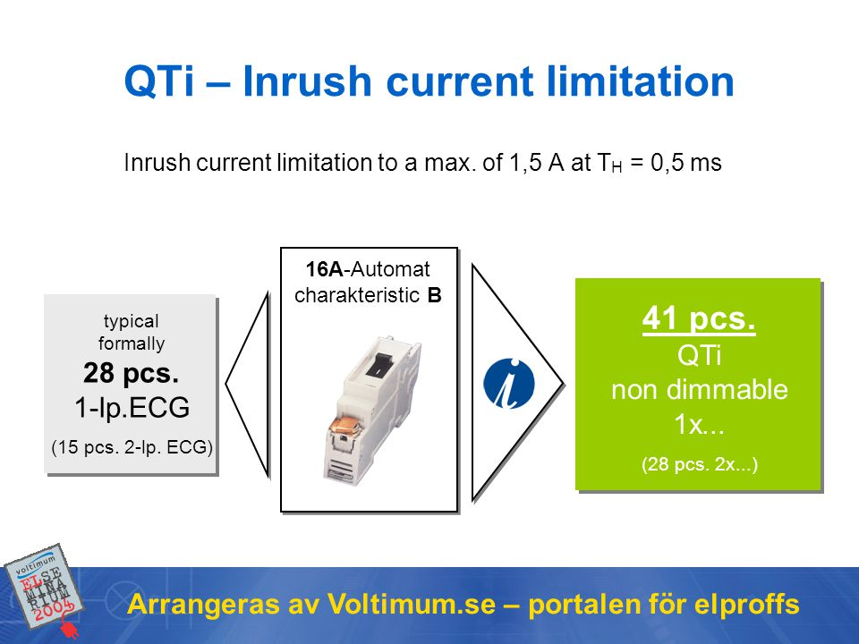 QTi – Inrush current limitation