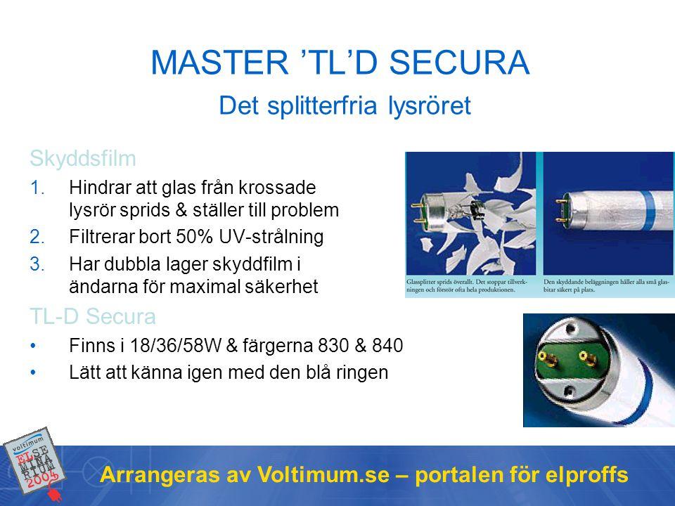 MASTER 'TL'D SECURA Det splitterfria lysröret