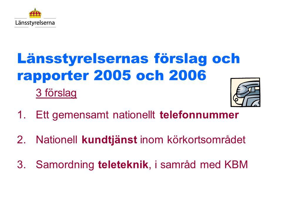 Länsstyrelsernas förslag och rapporter 2005 och 2006