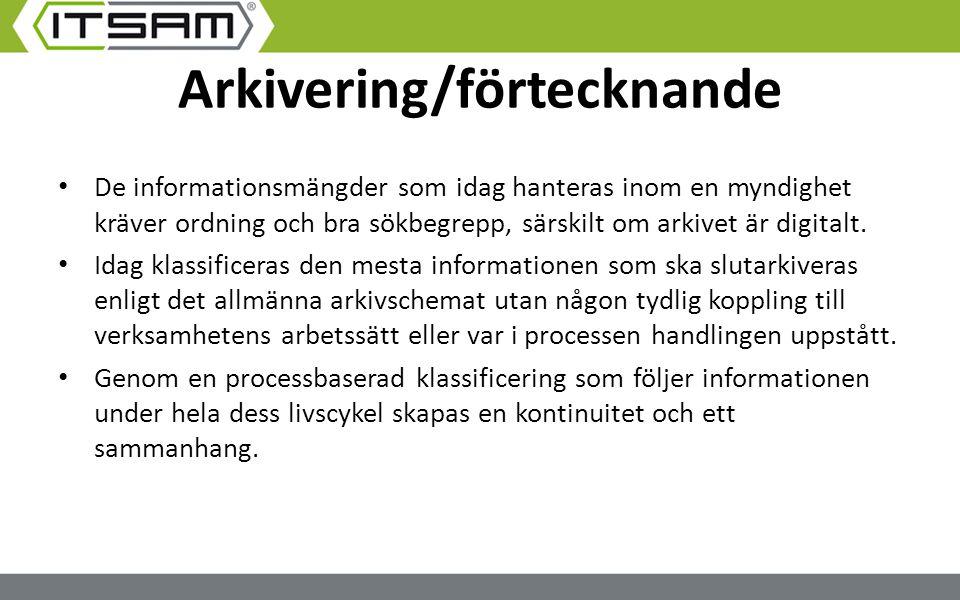 Arkivering/förtecknande