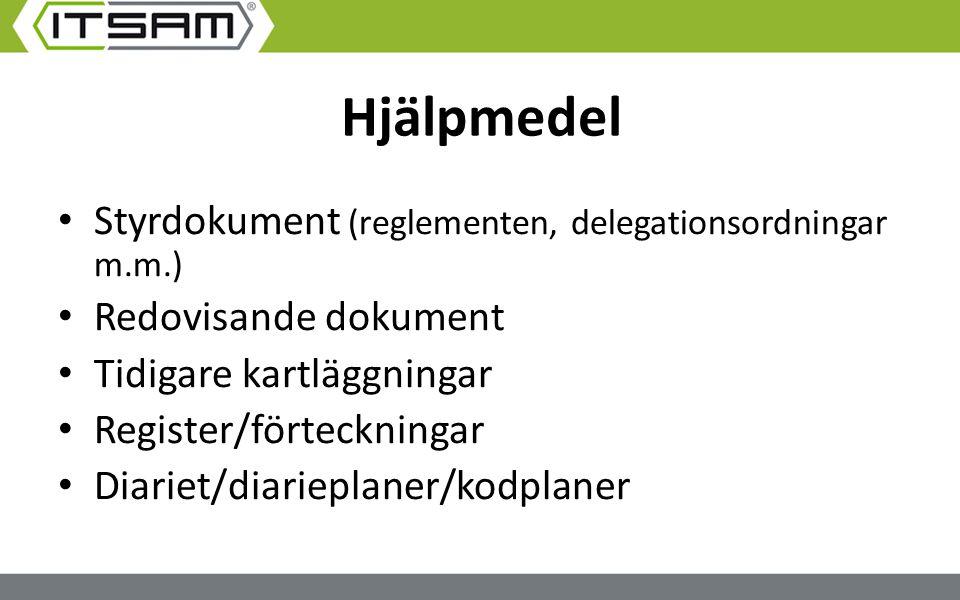 Hjälpmedel Styrdokument (reglementen, delegationsordningar m.m.)