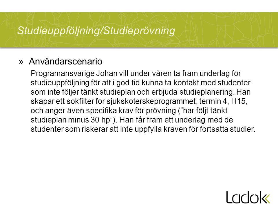 Studieuppföljning/Studieprövning