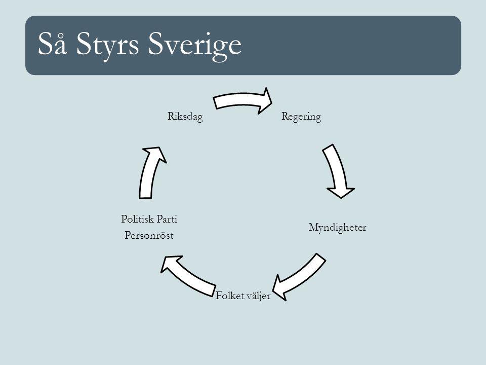 Så Styrs Sverige Regering Myndigheter Folket väljer Politisk Parti