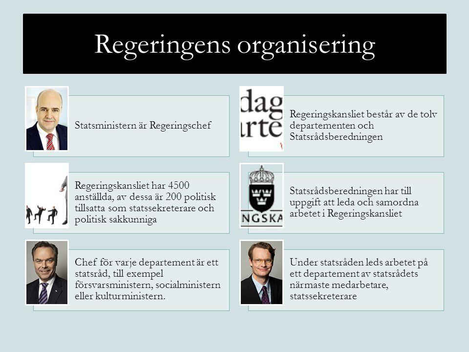 Regeringens organisering