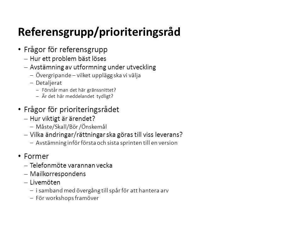 Referensgrupp/prioriteringsråd