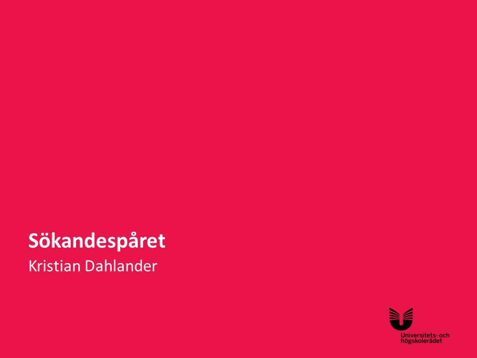Sökandespåret Kristian Dahlander