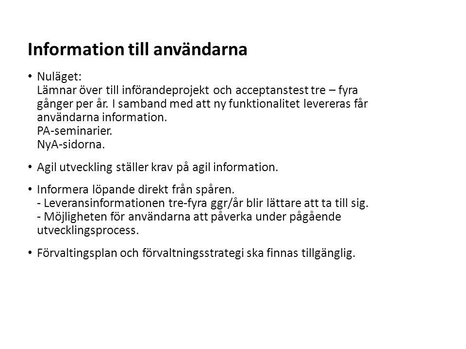 Information till användarna