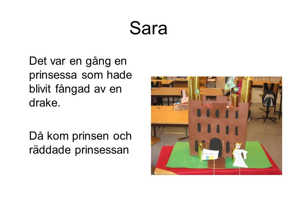 Sara Det var en gång en prinsessa som hade blivit fångad av en drake.