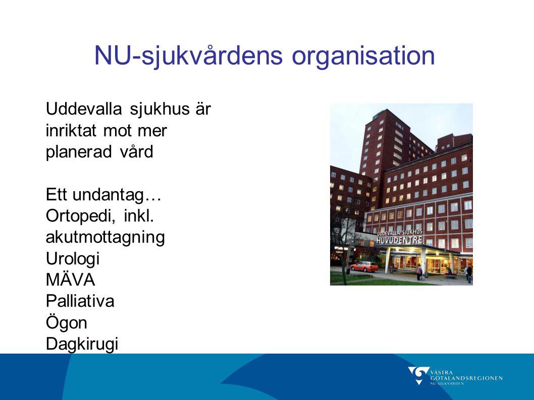 NU-sjukvårdens organisation