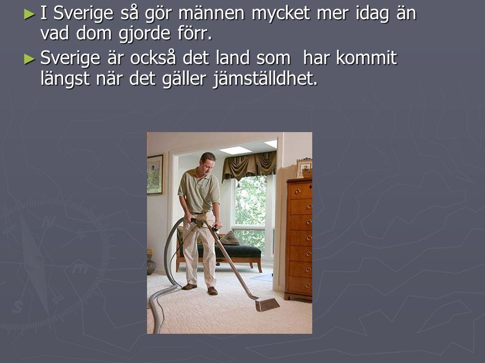 I Sverige så gör männen mycket mer idag än vad dom gjorde förr.