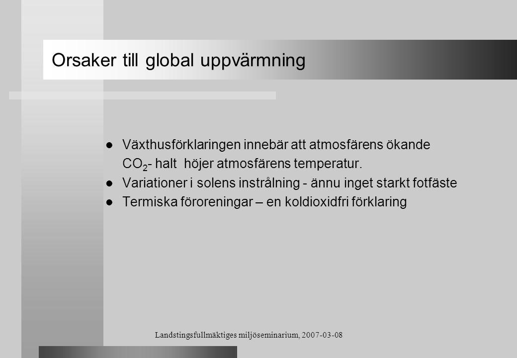 Orsaker till global uppvärmning