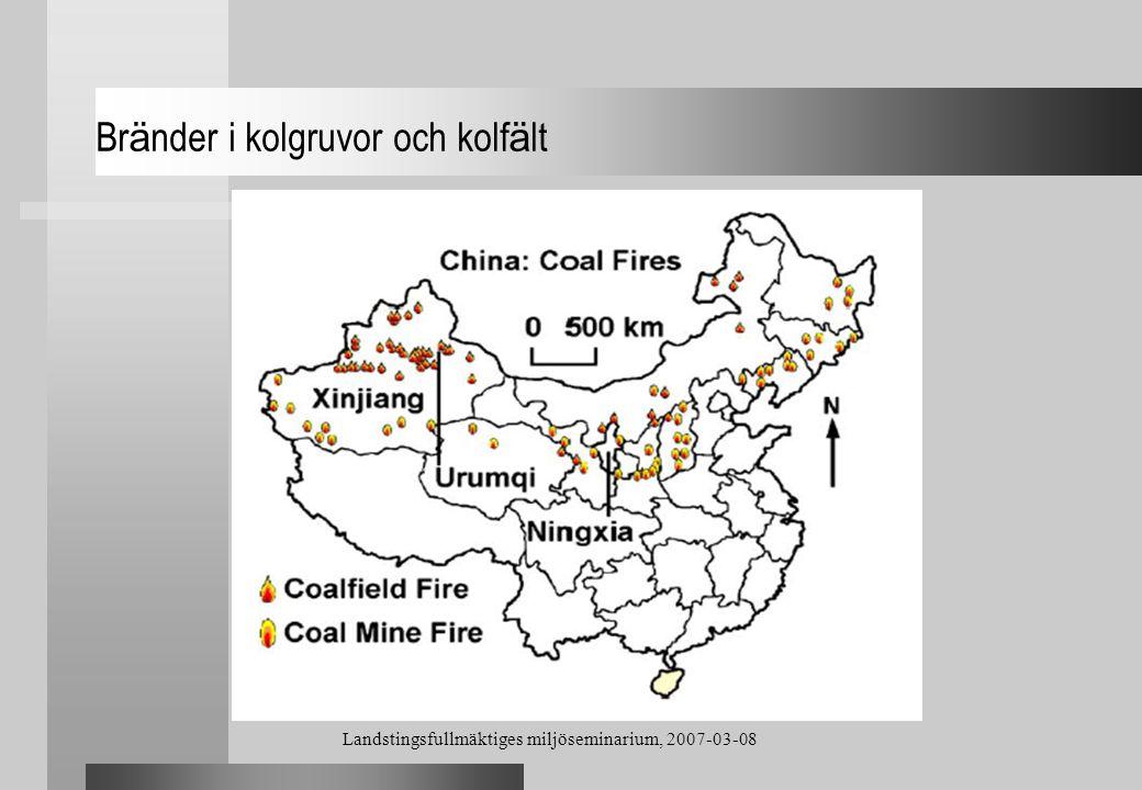 Bränder i kolgruvor och kolfält