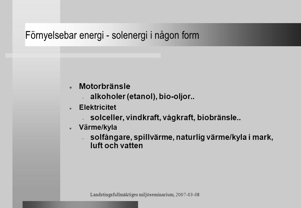 Förnyelsebar energi - solenergi i någon form