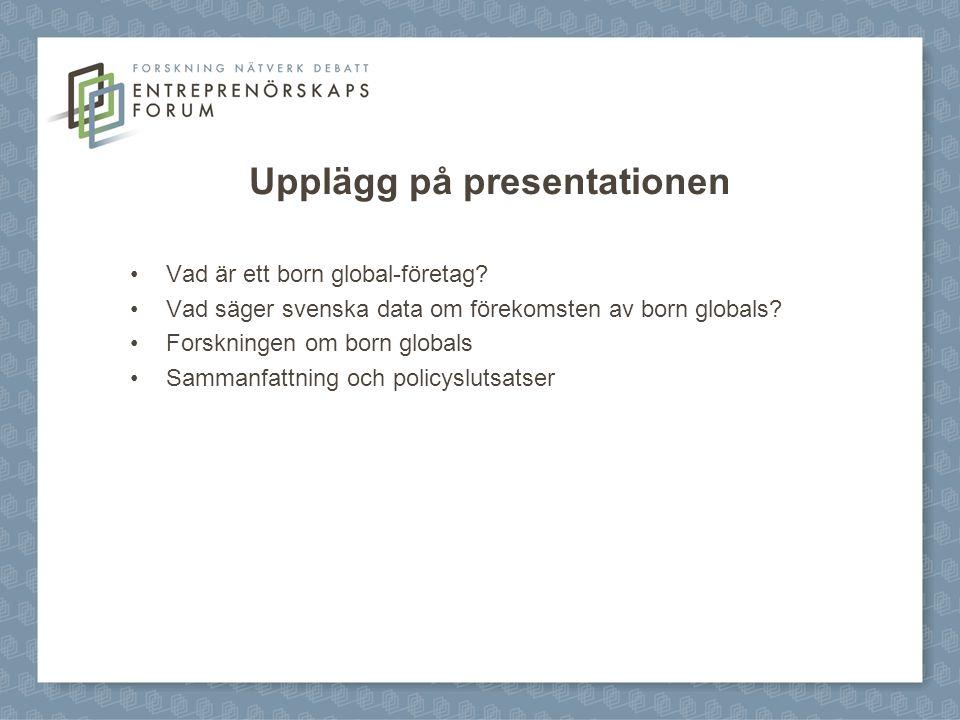 Upplägg på presentationen