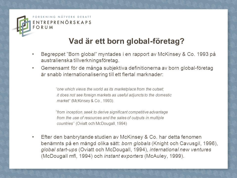 Vad är ett born global-företag