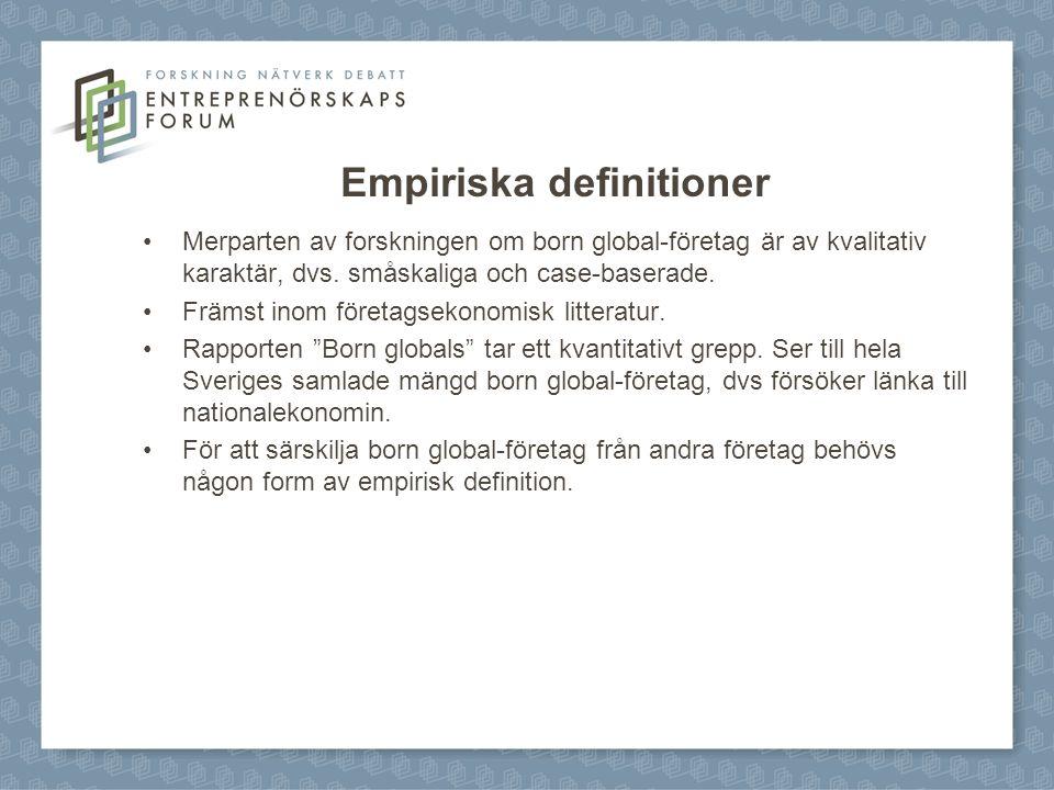 Empiriska definitioner