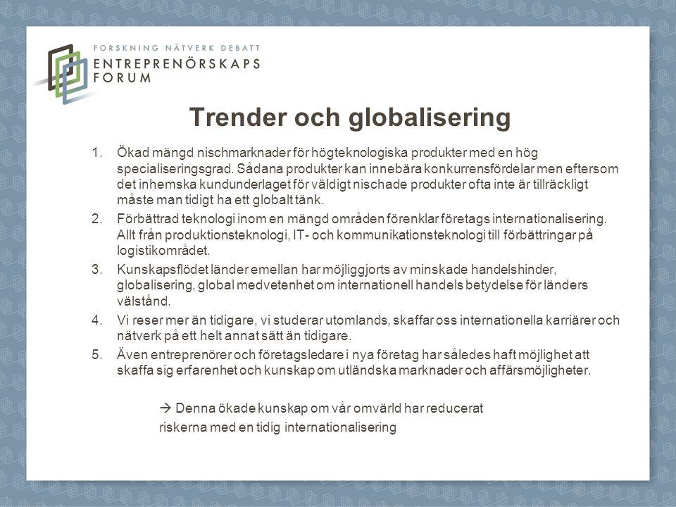 Trender och globalisering