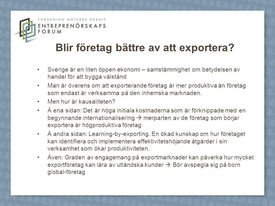 Blir företag bättre av att exportera