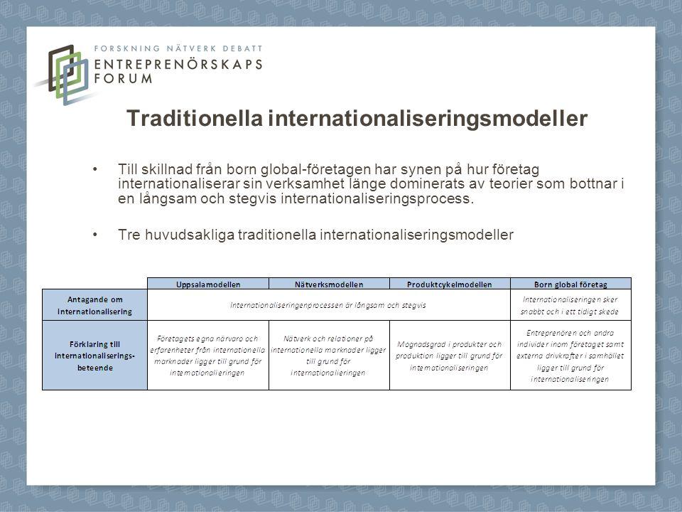 Traditionella internationaliseringsmodeller