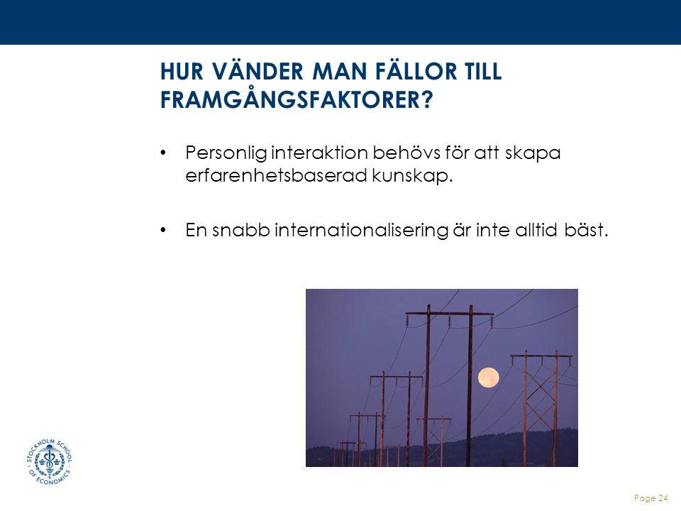 HUR VÄNDER MAN FÄLLOR TILL FRAMGÅNGSFAKTORER