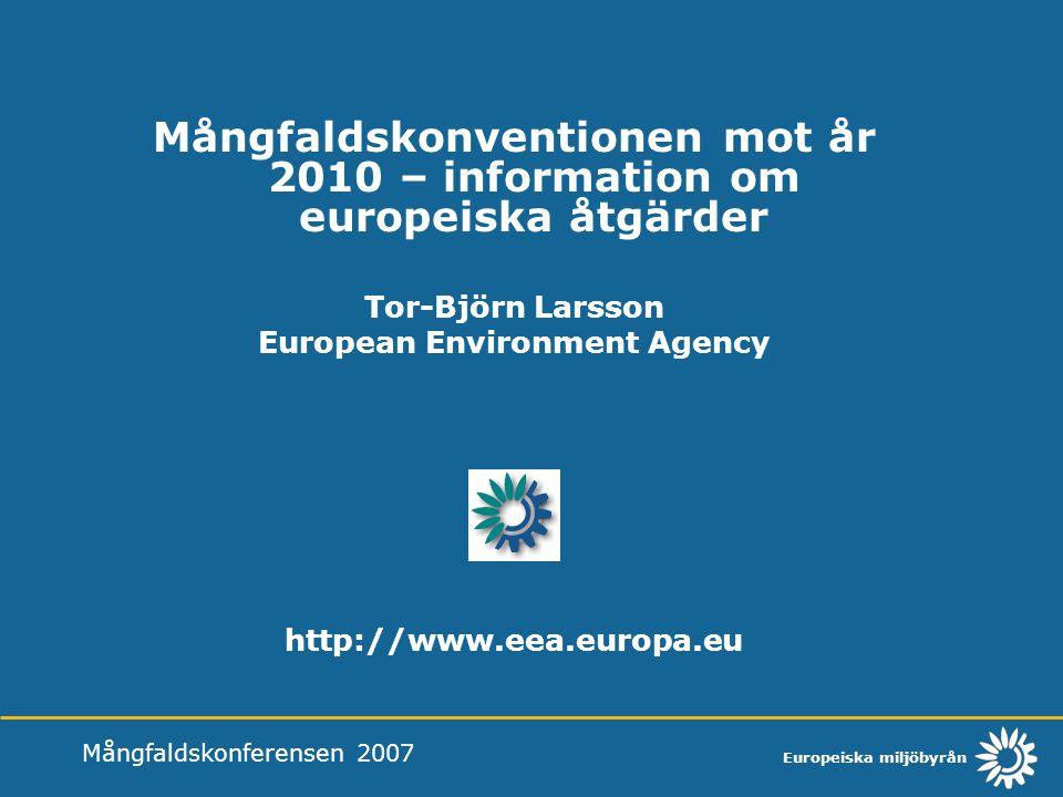 Tor-Björn Larsson European Environment Agency