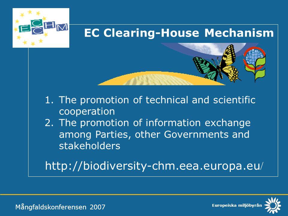 http://biodiversity-chm.eea.europa.eu/ EC Clearing-House Mechanism