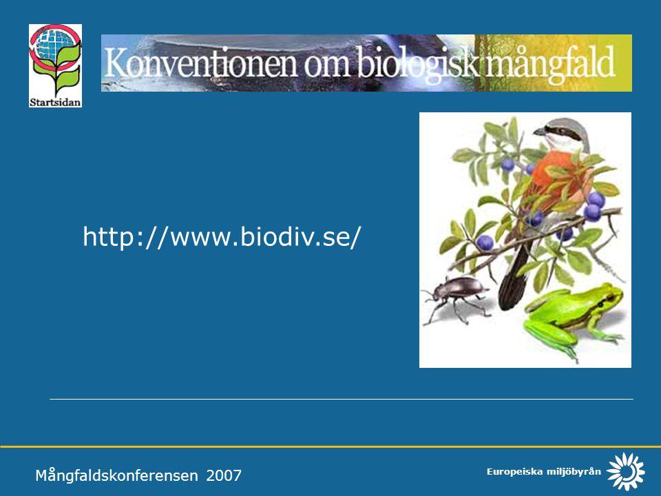 http://www.biodiv.se/ Mångfaldskonferensen 2007