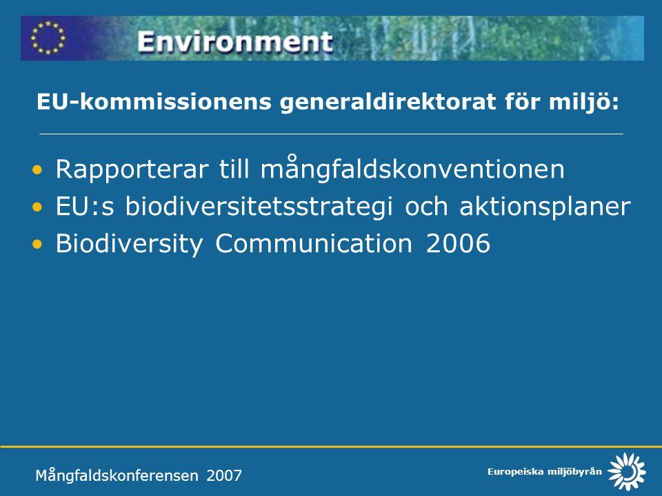 EU-kommissionens generaldirektorat för miljö: