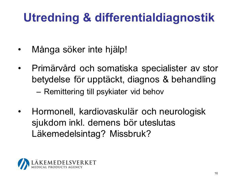 Utredning & differentialdiagnostik