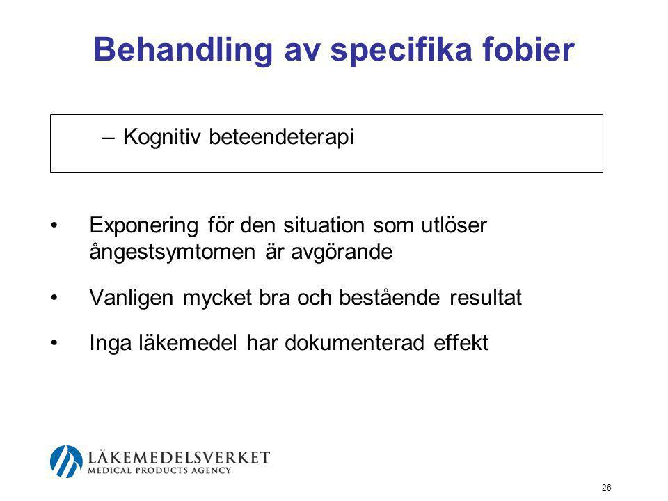 Behandling av specifika fobier