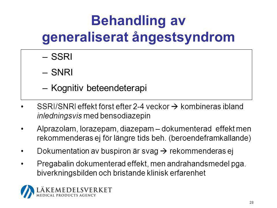 Behandling av generaliserat ångestsyndrom