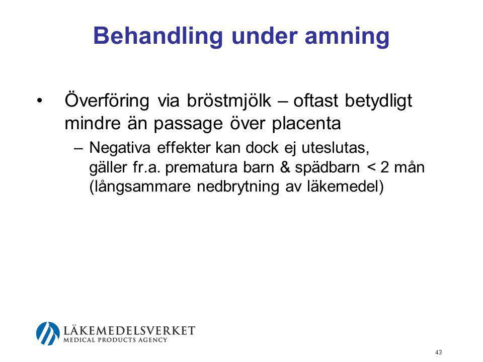 Behandling under amning