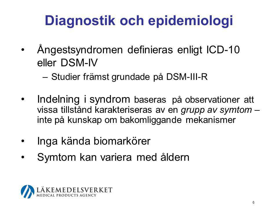 Diagnostik och epidemiologi