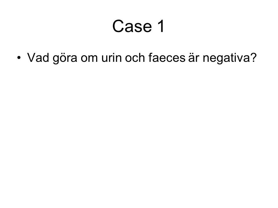 Case 1 Vad göra om urin och faeces är negativa
