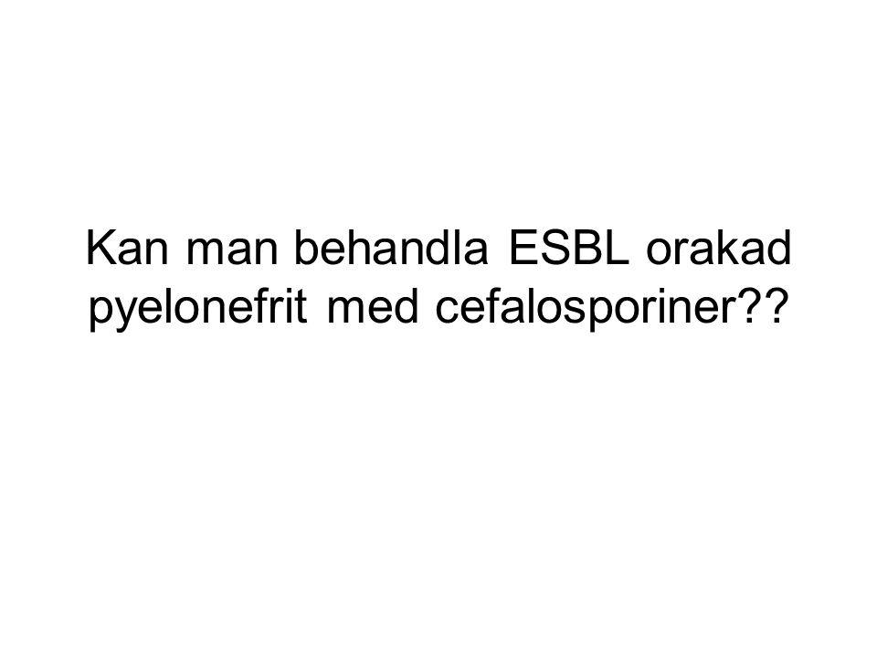 Kan man behandla ESBL orakad pyelonefrit med cefalosporiner