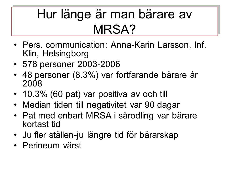 Hur länge är man bärare av MRSA