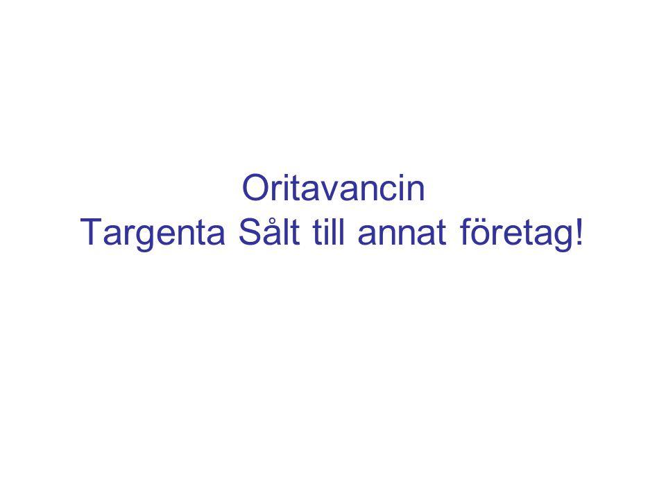 Oritavancin Targenta Sålt till annat företag!