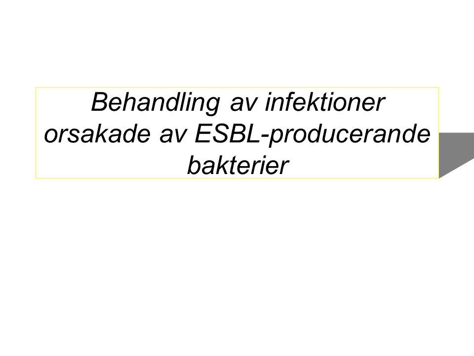 Behandling av infektioner orsakade av ESBL-producerande bakterier