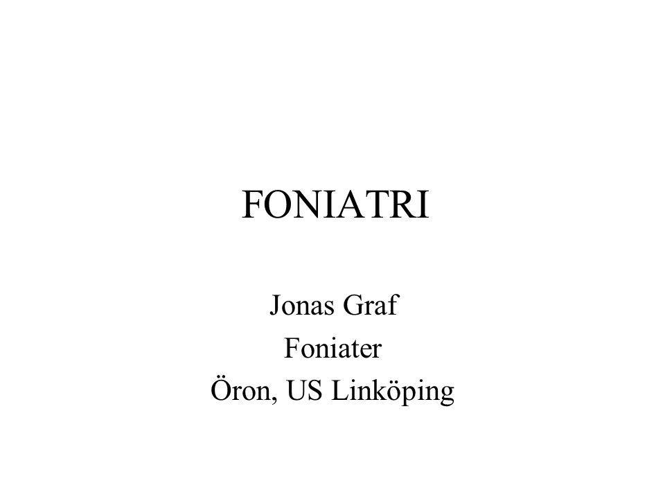 Jonas Graf Foniater Öron, US Linköping